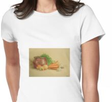 Still life with carrots and onions Womens Fitted T-Shirt