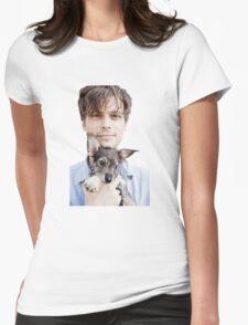 Matthew Gray Gubler Holding Puppy Womens Fitted T-Shirt
