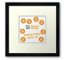 Genesis Bitcoin Mining Since '13 Framed Print