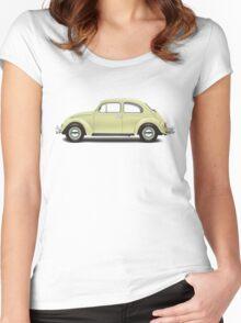 1963 Volkswagen Beetle Sedan - Beryl Green Women's Fitted Scoop T-Shirt