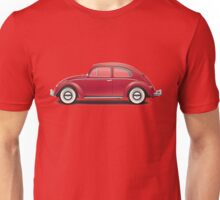 1964 Volkswagen Beetle Sedan - Ruby Red Unisex T-Shirt