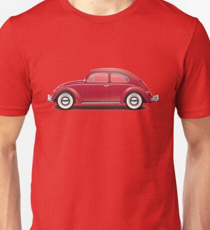 1964 Volkswagen Beetle Sedan - Ruby Red Unisex T-Shirt