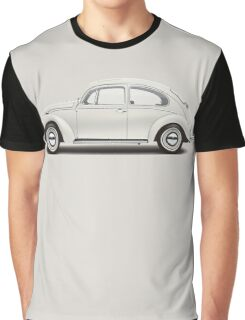 1966 Volkswagen Beetle Sedan - Pearl White Graphic T-Shirt