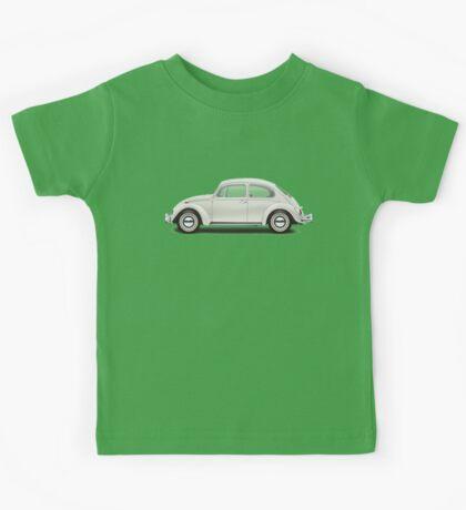 1966 Volkswagen Beetle Sedan - Pearl White Kids Tee
