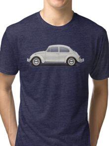 1966 Volkswagen Beetle Sedan - Pearl White Tri-blend T-Shirt