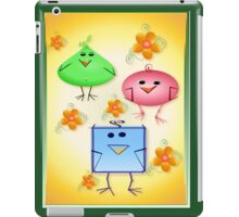 Strange Birds and Flowers iPad Case/Skin