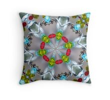 Wire over crystal mandala. Throw Pillow