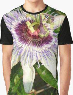 Passiflora Close Up With Garden Background Graphic T-Shirt
