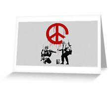 banksy-01 Greeting Card
