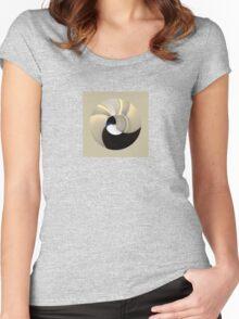 Sleeping penguin Women's Fitted Scoop T-Shirt