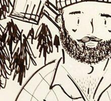 Got Wood? Hipster Lumberjack Sticker