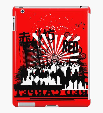 Urban color Red iPad Case/Skin