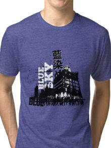 Urban color Blue Tri-blend T-Shirt