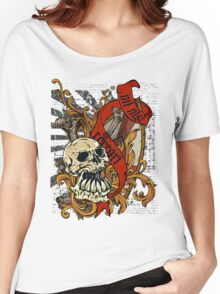 Skull Goth Rock 01 Women's Relaxed Fit T-Shirt
