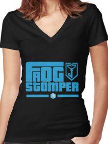 Frog Stomper - Ingress Women's Fitted V-Neck T-Shirt