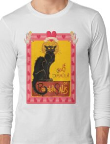 Le Chat D'Amour With Heart And Cherub Border Long Sleeve T-Shirt