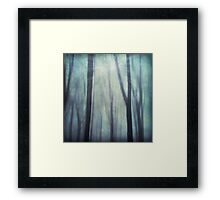 abstract trees in fog Framed Print