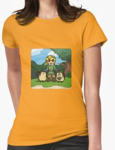 Legend of Zelda Skyward Sword: Link and Kikwis Womens Fitted T-Shirt