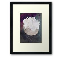 Abstract white volcano Framed Print