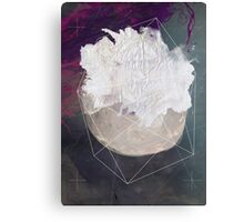 Abstract white volcano Canvas Print