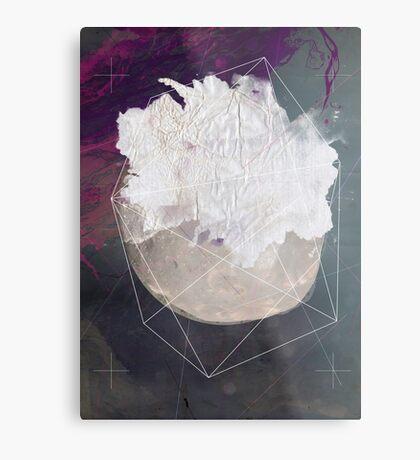 Abstract white volcano Metal Print