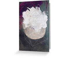 Abstract white volcano Greeting Card