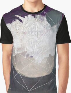 Abstract white volcano Graphic T-Shirt