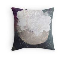 Abstract white volcano Throw Pillow
