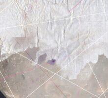 Abstract white volcano Sticker