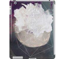 Abstract white volcano iPad Case/Skin
