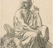 Henri Lehmann St. Mark and His Lion.  by Adam Asar
