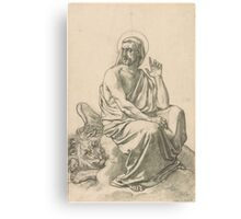 Henri Lehmann St. Mark and His Lion.  Canvas Print
