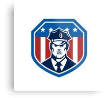 American Security Guard Flag Shield Retro Metal Print