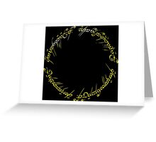 The One Ring Greeting Card