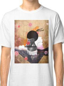 Contemporary fashionistas floral collage Classic T-Shirt