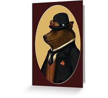 Bear in bowler hat Greeting Card