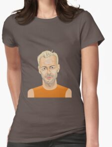 Bruce Willis, Hollywood star in The Fifth Element  Womens Fitted T-Shirt