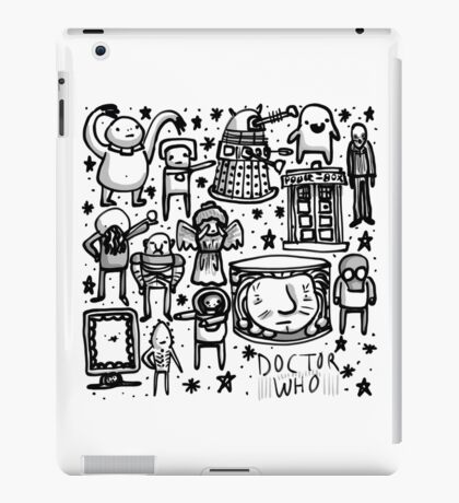 Doctor Who doodle iPad Case/Skin