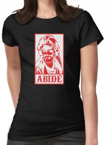 Abide, The Big Lebowski Womens Fitted T-Shirt