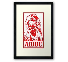 Abide, The Big Lebowski Framed Print