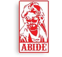 Abide, The Big Lebowski Canvas Print