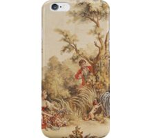 Graphic T-shirt Aubusson french tapestry 18th century iPhone Case/Skin