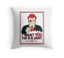 Commander Red Wants YOU! Throw Pillow