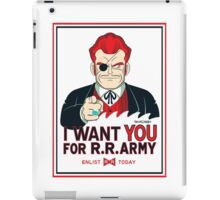 Commander Red Wants YOU! iPad Case/Skin