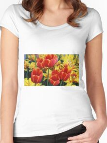 DC Tulips Women's Fitted Scoop T-Shirt