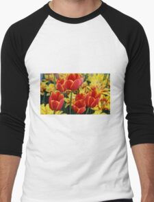 DC Tulips Men's Baseball ¾ T-Shirt