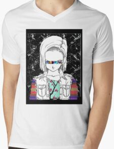 Android18OSPLUS Mens V-Neck T-Shirt