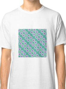 Turquoise Patterns Classic T-Shirt