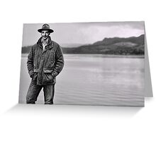 Manly Maureen OHara on the Loch Greeting Card