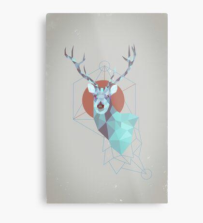 Edgy Deer Metal Print